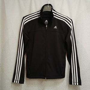 Adidas full zip track jacket blank/ white